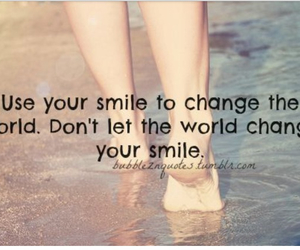 smile, world, and quotes image