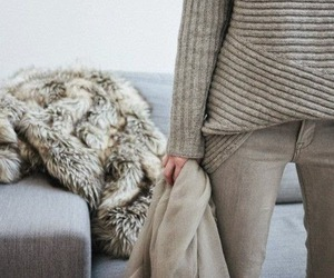 fur, grey on grey, and statement coats image