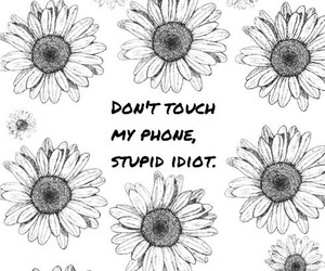 flowers, phone, and wallpaper image