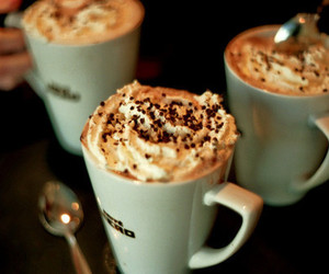 cappuccino, cream, and drink image