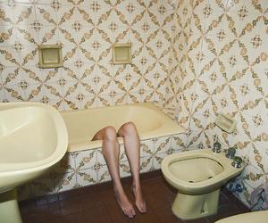 bathroom, legs, and grunge image