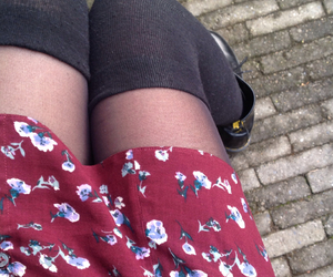 floral, forever21, and skirt image