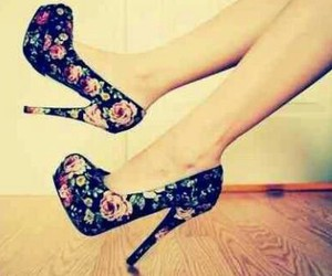 girls, high heels, and love image