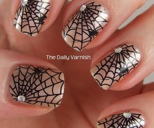 Halloween, spider, and nail design image