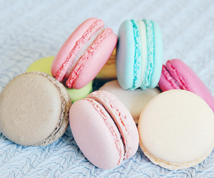 food, macarons, and sweet image
