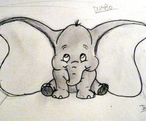 adorable, draw, and elephant image