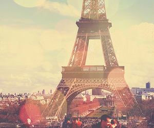 paris, eiffel tower, and couple image