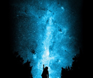 blue, forest, and galaxy image