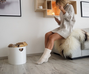 cosy, fashion, and legs image