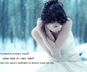 fairy tales, quotes, and snow image