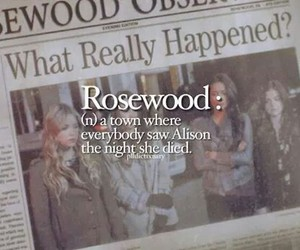 pll, pretty little liars, and rosewood image
