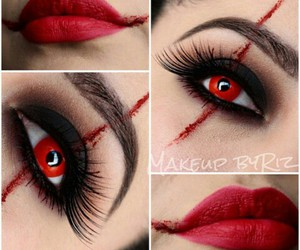 Halloween, makeup, and red image