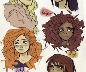 girls, percy jackson, and annabeth chase image