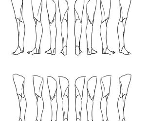 drawing, helpful, and leg image