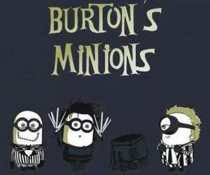 minions and tim burton image