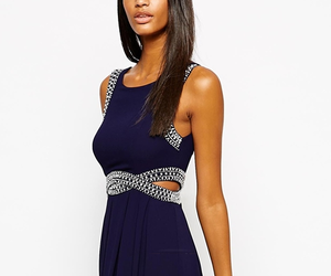 asos, navy, and prom dress image