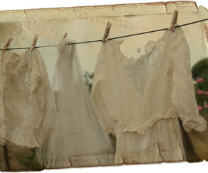 clothesline, vintage, and white image