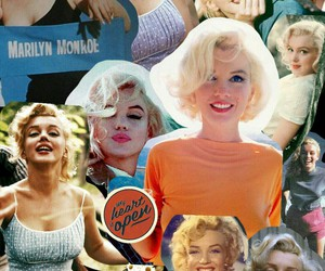 Collage, marilyn, and marilynmonroe image
