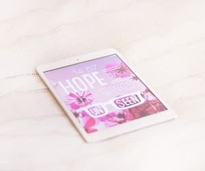 ipad, pink, and hope image