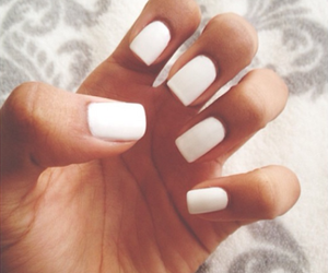 nails, white, and girly image