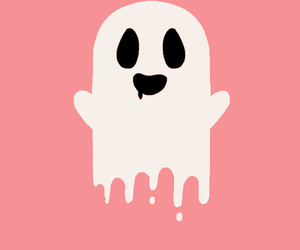 ghost, pink, and gif image