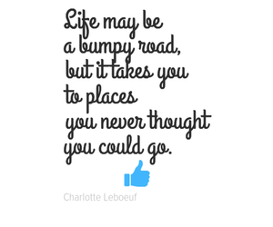 life, positive, and bumpy road image