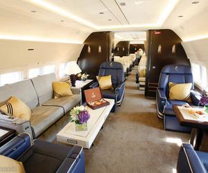 luxury, plane, and VIP image