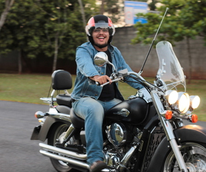 canon, motorcycle, and smile image