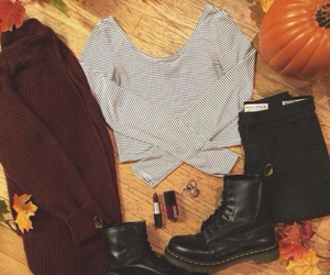 autumn, fashion, and boots image