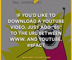 internet, life hack, and youtube image