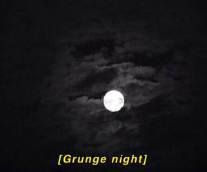 grunge, night, and moon image
