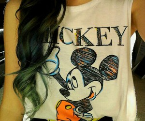 mickey, style, and hair image