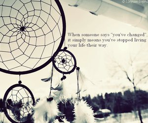 dreamcatcher, nature, and quote image