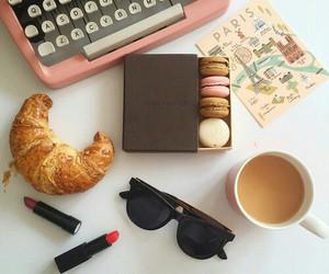 pink and typewriter image