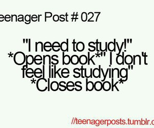 teenager post, funny, and study image
