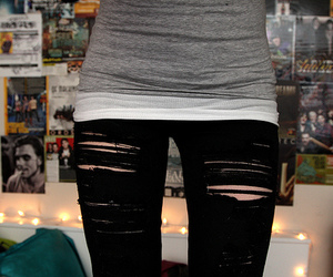 girl, skinny, and jeans image