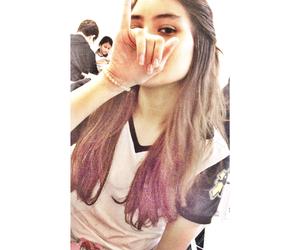 cabelo, cabelos, and rosa image