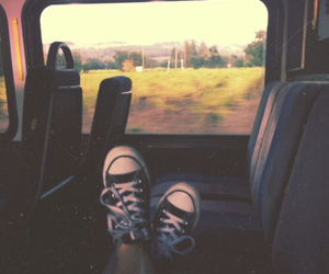 converse, travel, and grunge image