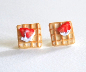 clay food, food earrings, and miniature food jewelry image