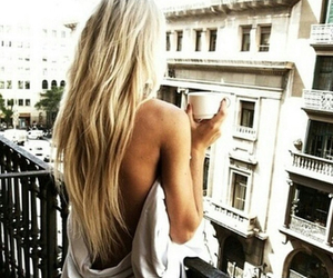 balcony, hair, and blonde image