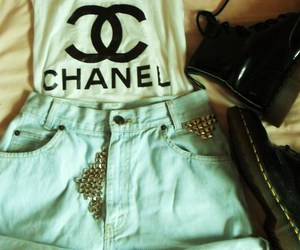 chanel, girl, and shoes image