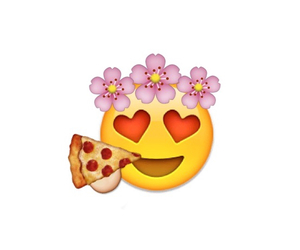 pizza, flowers, and emoji image