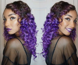 curls, dyed hair, and hair image