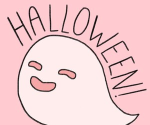 ghost, Halloween, and pink image