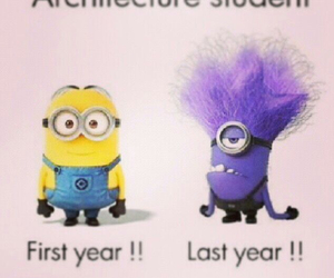 student, minions, and architecture image