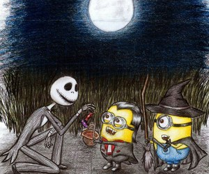 minions and Halloween image