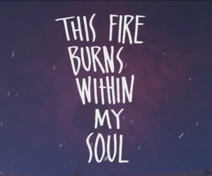 fire, god, and Hillsong image