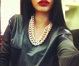 lips, red, and gold image