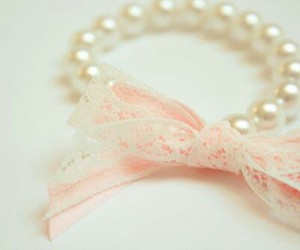 pink, pearls, and bracelet image