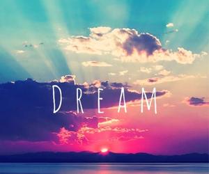 Dream, sunset, and sun image